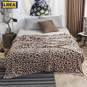 Animal Skin Leopard Zebra Sherpa Plush Blankets Winter Flannel Blanket For Double Bed Soft Warm Bedspread Travel Throw Blanket Y200417