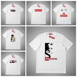 Supreme Mens della maglietta di estate degli uomini della lettera modo ha stampato Maniche corte T delle parti superiori Designers Tee Shirts Abbigliamento taglie S-XXL # 46515