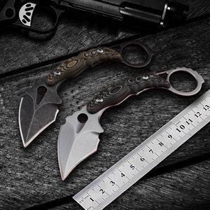 EDC coltello Karambit CS GO Coltelli DC53 Acciaio balde fisso lama di caccia del cambio tattico tagliente campeggio di sopravvivenza Strumenti regalo fodero di K