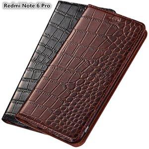 Ultra slim phone case para xiaomi redmi note 6 pro couro genuíno luxo case para redmi note 6 pro case flip com slot para cartão