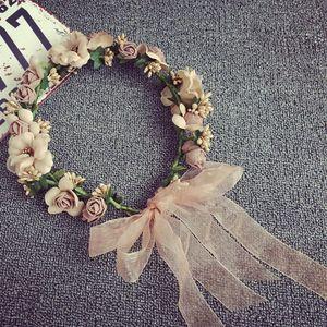Flower Photographic Bride Photography Studio Sen Sistema Mulher da flor Simulação Garland Headwear cabelo Decore Mar Em Férias