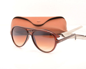 10PCS new Fashion 4125 mens glasses womens sunglasses glasses Unisex glasses Brand sunglasses Brand Designer sunglasses come with Brown Boxs