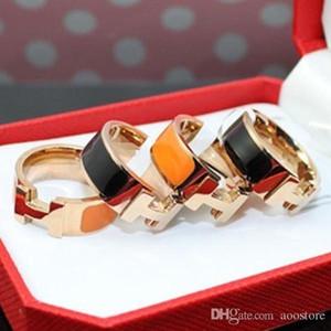 المجوهرات الكلاسيكية الجملة H رسالة حب خاتم الزواج أبيض وأسود اللون حدد الرجال والنساء زوجين H الدائري