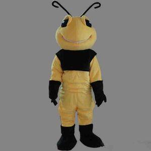 new Xmas Mascot Yellow Bee Costume xmas Halloween Cute Bee Mascot Outfit Halloween Chirastmas Party Fancy Dress Custom made