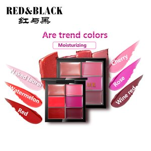 Red&black Lipstick Six Color Peacock Long-lasting Waterproof Cream Lipstick Tint Set Long-lasting Sexy Lipstick