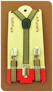 ShippingNew BAMBINI 15cm largo Gold Glitter BAMBINI BOYSGIRLS bretella elastico Bretelle Slim Bretelle Cinture Accessori Bretelle