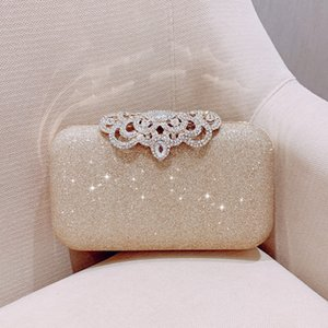 Meloke new fashion Sequined Scrub Clutch Women's Evening Bags Bling Day Clutches Gold Wedding Purse Female Handbag MN2019 MX200324