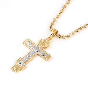 Christianisme orthodoxe russe Eglise Croix éternelle Charms Pendentif Collier Bijoux Russie Grèce Ukraine Cadeaux