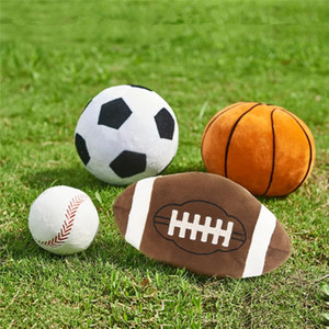 Imitation baseball de basket-ball de football de rugby beau jouet jouets sphère enfants Creative Cartoon oreiller sphérique garçon nouveauté cadeau T9I00215