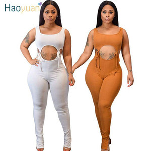 Sexy évider lacent Barboteuses Femmes Jumpsuit Vêtements d'été Body One Piece club Tenues manches bodycon Salopette