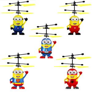 Helicóptero RC Drone Crianças Brinquedos Voando Bola Aeronaves Levou Luz Piscando Up Toy Indução Sensor Elétrico para Crianças Minions 5 Estilos