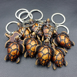 Toptan 12 ADET moda tribal stil balık terazi deniz Kaplumbağaları Kolye anahtarlıklar Anahtarlıklar Araba Anahtar Yüzükler kadın erkek hediye için YKR28