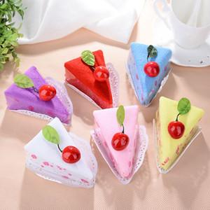 Lovely Cake Shape Asciugamano in cotone Microfiber Baby Face Shower San Valentino Matrimonio regalo di compleanno 20 * 20 cm DHL SHIP WX9-1325