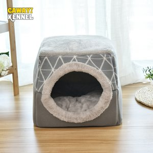 CAWAYI KENNEL Soft Pet House Dog Bed for Dogs Cats Small Animals Products Cama Perro Hondenmand Panier Chien Legowisko Dla Psa T200618