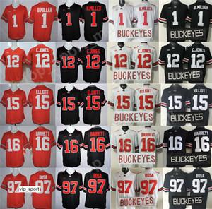 Футбол в колледже Огайо Стэйт Бакис Трикотажные изделия для мужчин Сшитые Иезекииль Эллиотт 97 Джои Боза 1 Брэкстон Миллер Кардейл Джонс Дж. Барретт