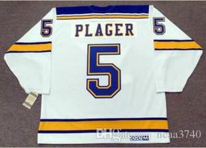 Custom Men Youth women Vintage # 5 BOB PLAGER St. Louis Blues 1967 CCM Hockey Jersey S-5XL ou personalizar qualquer nome ou número