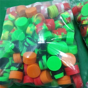 Antihaft-Wachsbehälter aus Silikon 3ml 5ml 7ml Siliconbehälter Wachsgläser Dabber-Werkzeugspeicheröl Gläser Konzentrat Fall für Verdampfer vape