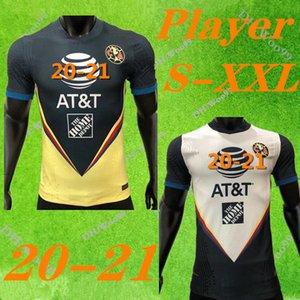 Версия игрока G. Dos Santos 20 21 home America Yellow jersey soccer R. SAMBUEZA P. AGUILAR 2020 2021 away Mexico club футбольная рубашка женщины