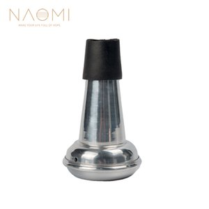 NAOMI Trumpet Mute Lightweight Aluminum Mute Straight Practice Trumpet Mute For Trumpet Woodwind Instrument Parts Accessories