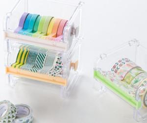 Nuovo Popolare cancelleria nastro adesivo taglierina Washi Tape Storage Organizer Cutter Ufficio Tape Supplies Dispenser per ufficio