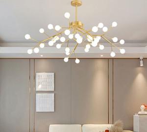 Pós-moderno Minimalista MODO MOLÉCULO LED Candelabro Pingente Luz Nórdica Lâmpada Lâmpada Criativa Dining Sala Luz Personalidade Lustres