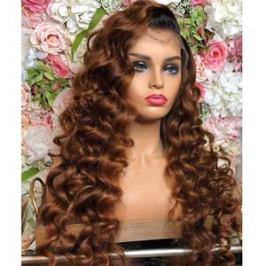 Глубокая волна перуанский омбре 360 кружева фронтальные парики с волосами младенца 13x6 прозрачные кружева фронтальные парики человеческих волос Блондинка 360 кружева фронтальный парик