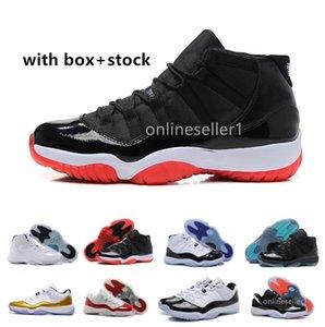 Zapatos de baloncesto 11s Bred Concord Gamma Azul Space Jam Gimnasio Rojo Infrarrojo Varsity Red de diseño nuevas 2020 zapatillas de deporte 11 Zapatos Para Hombres Mujeres
