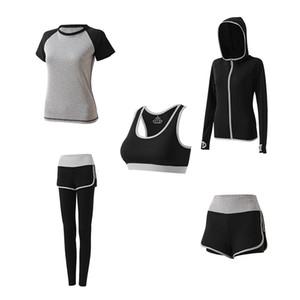Fitnesskleidung Laufen Schnelltrocknende Kleidung Schweißabsorbierende, atmungsaktive Sportkleidung mit hoher Taille Yoga-Kleidung Anzug Damen