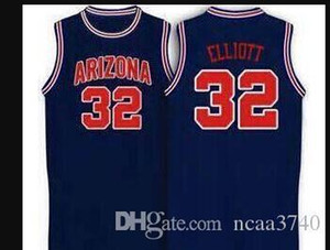 Custom Men Youth women Arizona Wildcats #32 Sean Elliott College Basketball Jersey Size S-4XL or custom any name or number jersey