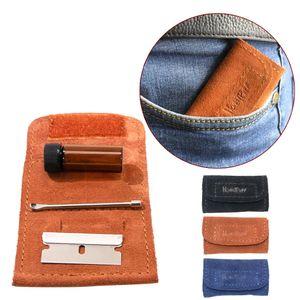 HONEYPUFF нюхательный Kit Set нечто сногсшибательное Мини стекло Sniffer Snuff бутылки + PU кожа + нержавеющая сталь Клинок + Mini Metal Ложка