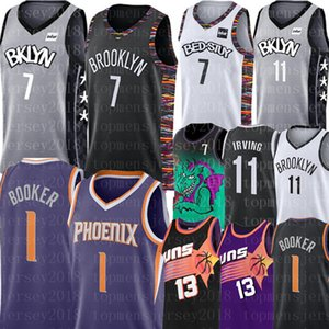 NCAA 7 Kevin Durant Jersey 11 Kyrie Irving Devin Men 1 Booker Steve Nash 13 Basketball Maillots New Broderie Logos