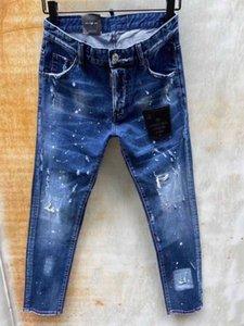 DSENQI hommes nouveaux pour Ripped Jeans Jeans Pantalons Pantalons cycliste Outwear homme 9120