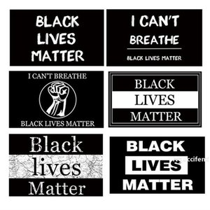6styles BLACK LIVES MATTER Flag banner i cannot breath for Parade Flags outdoor Party Supplies Banner Flags 90*150cm 100pcs T1I2010