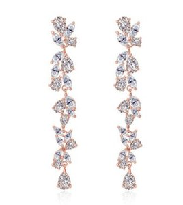 alta qualidade cristal dimaond deixa 925 silver lady 's earings 23.17vv