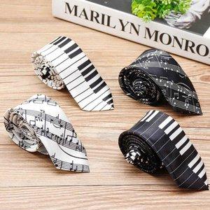 Fashion Men's Music Tie Printed Piano Keyboard Necktie Tie For Men Weeding Party Concert Gift