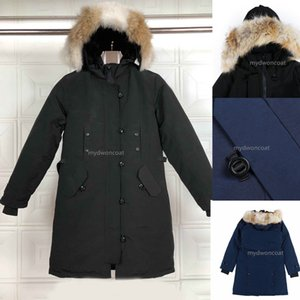 Top quality Woman jackets wonter down Parkas Hoody Canada real Wolf real Fur Jackets Zippers Jacket Warm Coat Outdoor Parka doudoune