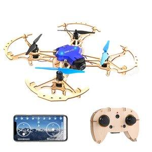 FN RC Drone ZL100 DIY madeira Drones Bolso Mini Corrida Quadrotor Mini montar brinquedos de controle remoto para o presente de Natal para crianças
