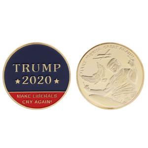 ترامب 2020 عملات الكلام التذكارية عملة الأمريكية رئيس مجموعة كرافت دونالد ترامب الرمزية جعل عملات الليبراليين صرخة مرة أخرى DBC DH2558