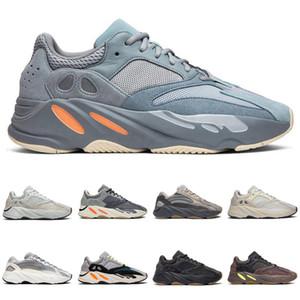 alta 700 corredor de la onda de malva La inercia de los zapatos corrientes de Kanye West 700 mujeres de los zapatos de los niños Deportes inercia Tephra gris sólido Utilidad Negro Vanta