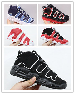 2020 Mehr Uptempo Kinder Neue 96 QS Olympic Varsity Maroon Kinder-Basketball-Schuhe 3M Scottie Pippen Chicago Trainers Laufschuhe