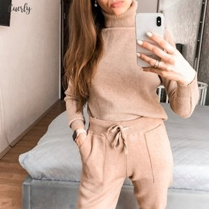 Casual Women Harem Pants Loose Trousers For Women Knitted Pants Autumn Winter Solid Color Sweater Trousers With Pockets