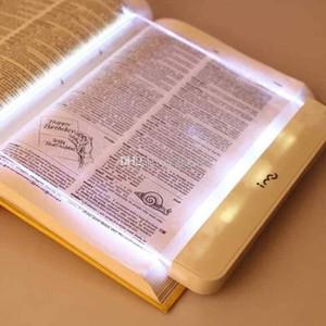 LED Light Book AAA Batterie Utilisation facile LED Light Book 2.5mm Epaisseur panneau plat de lecture lampe de nuit Régler Portable Livre de lecture