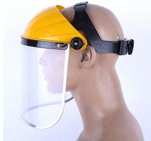 Sicurezza maschera protettiva regolabile head-mounted Viso Eye Shield schermo rettifica Olio A Prova di spruzzi maschera Giallo Orange Spedizione Gratuita