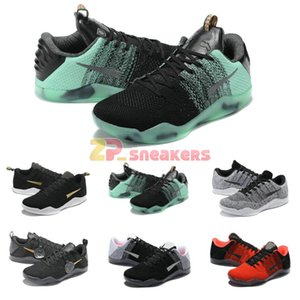 XI 11 Elite Low FTB Fade To Black Mamba Tag Männer Basketball-Schuhe BHM Achillesferse Last Emperor Ostern Schuhe zum Verkauf Dropshiping Accepted