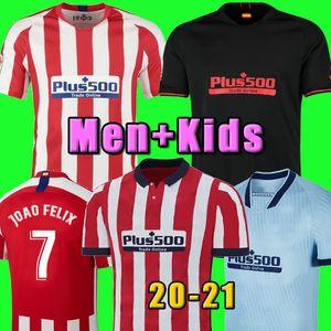 التايلاندية 20 21 جواو فيليكس قميص مدريد أتلتيكو كرة القدم جيرسي JOAO FELIX كوريا لوكاس كوستا كوكي شاول غودين لويس خيمينيز الرجال لكرة القدم