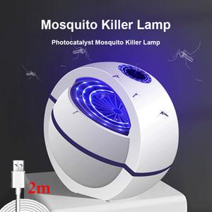 2020 Nouveau USB alimenté tueur de moustique lampe 1m / 2m électrique Pas de bruit 360 ° Tueur d'insectes Bug piège à moustiques Lumière Pour Chambre Maison