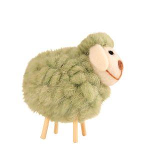 1PC Navidad de los accesorios de lana de fieltro de colores Cordero Inicio Adornos del árbol de Navidad colgando colgante Decoración para sala de estar