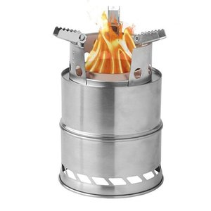 ports & Entertainment Camping Wood Stove Survival Foldable Portable Stove, Made Of Lightweight Stainless Steel Easy Fuel With Twigs Leave...