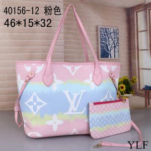 2020 Yeni Ücretsiz nakliye 2 parçalı set Bez Debriyaj Çanta Omuz Çantaları Messenger Kadın okul çantası SICAKLVLOUISVUITTON 01