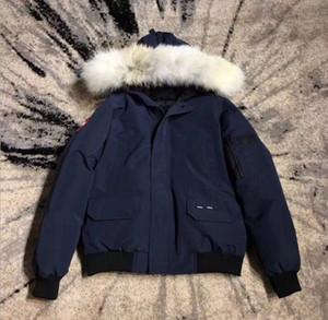 Revestimento do inverno luxo Fourrure de Down Parka Homme Putin Chaquetas Casacos Big Fur com capuz Fourrure Manteau Canadá para baixo do revestimento do revestimento Tamanho XS-XXL